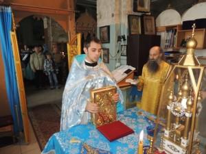 Праздничная Божественная литургия в Покровском кафедральном соборе.