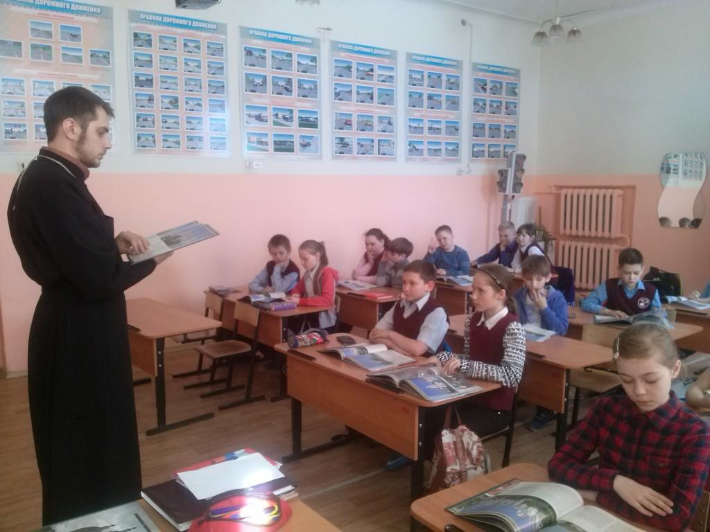 Уроки ОПК в 4 классах школы №6. Рассказы детям о храмах Урюпинской епархии.